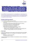 Words that Work report cover