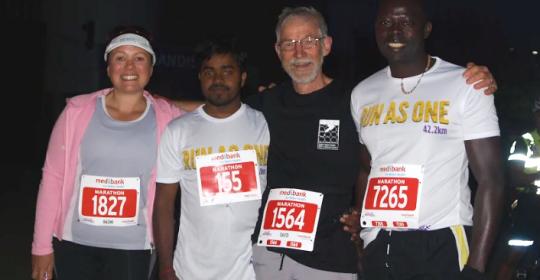 David's marathon effort for Run 4 Refugees