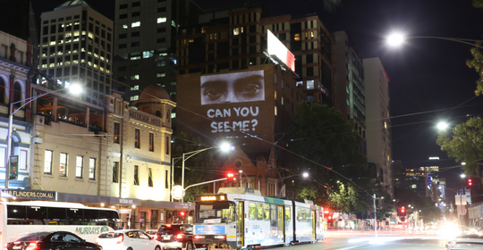 ASRC projections light up Melbourne's CBD