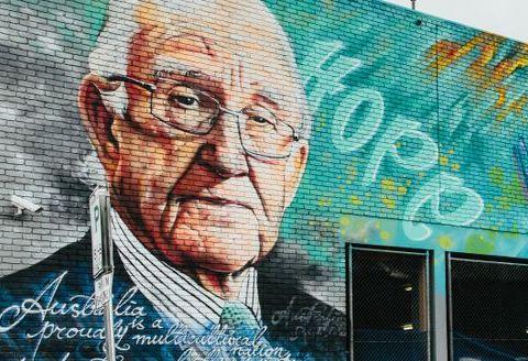 mural of Malcom Fraser