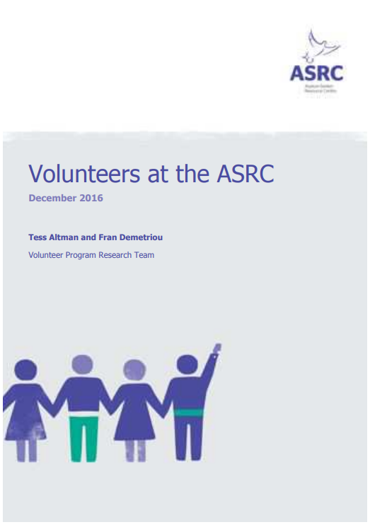 Volunteers at the ASRC