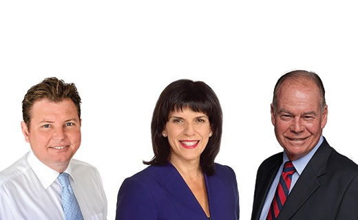 MPs Julia Banks, Craig Laundy and Russell Broadbent