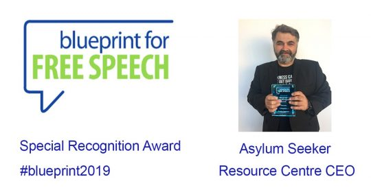 Asylum Seeker Resource Centre wins international recognition from Blue Print For Free Speech