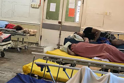 female hospital ward on Nauru