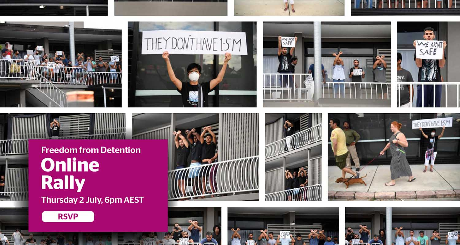 Three thousand people to join online protest rally against indefinite detention of people seeking asylum